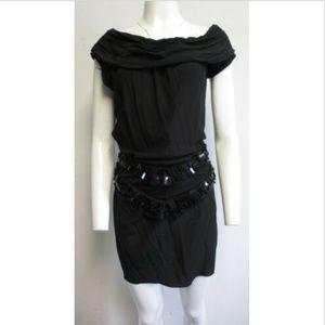 RICHARD CHAI LOVE black silk mini dress sz 8